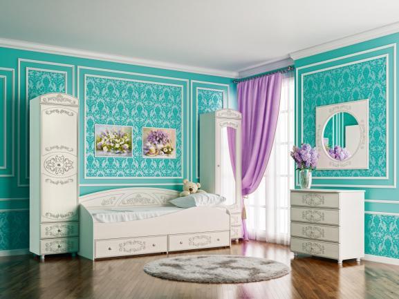 Детская комната Каролина (Сандал белый)