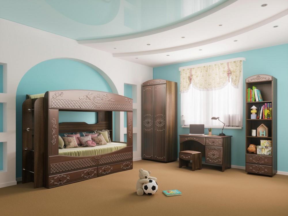 Детская комната Каролина 1 (Сандал белый)