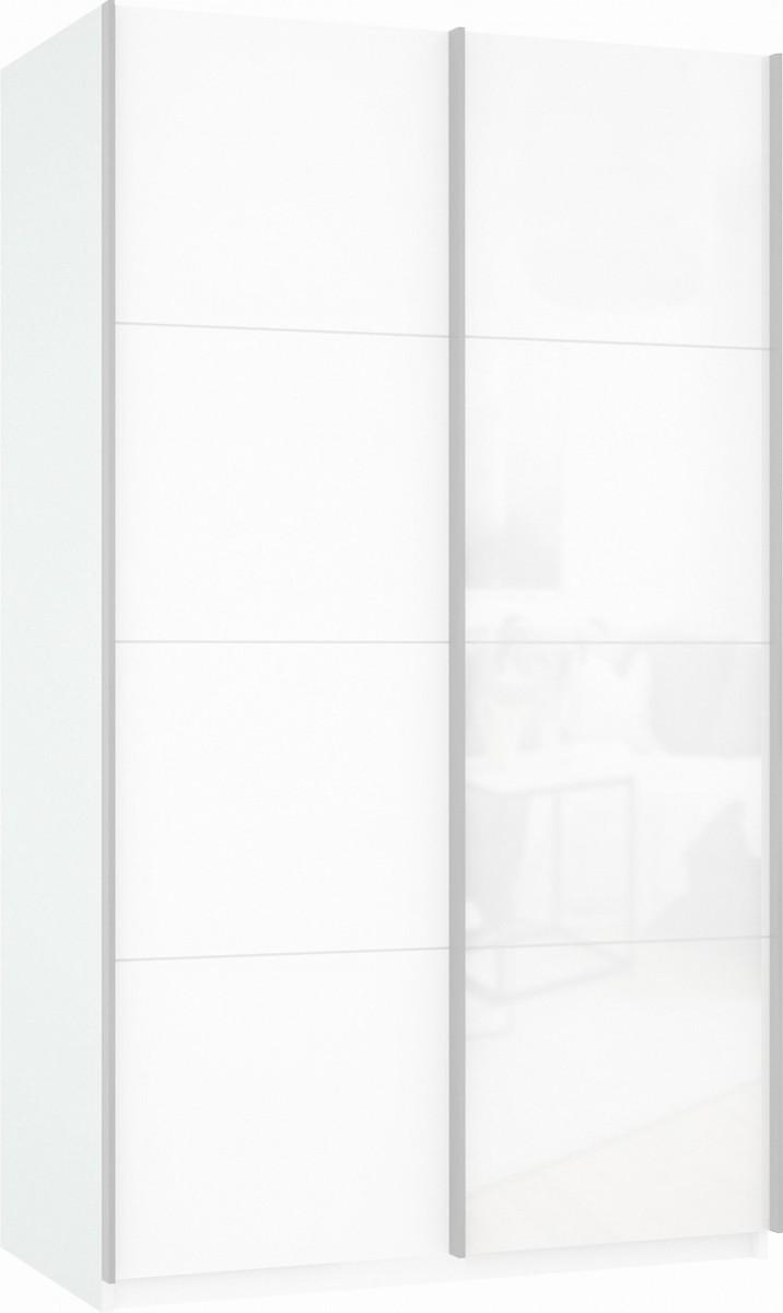 Шкаф купе Прайм 2-х дверный (фасад дсп/стекло)