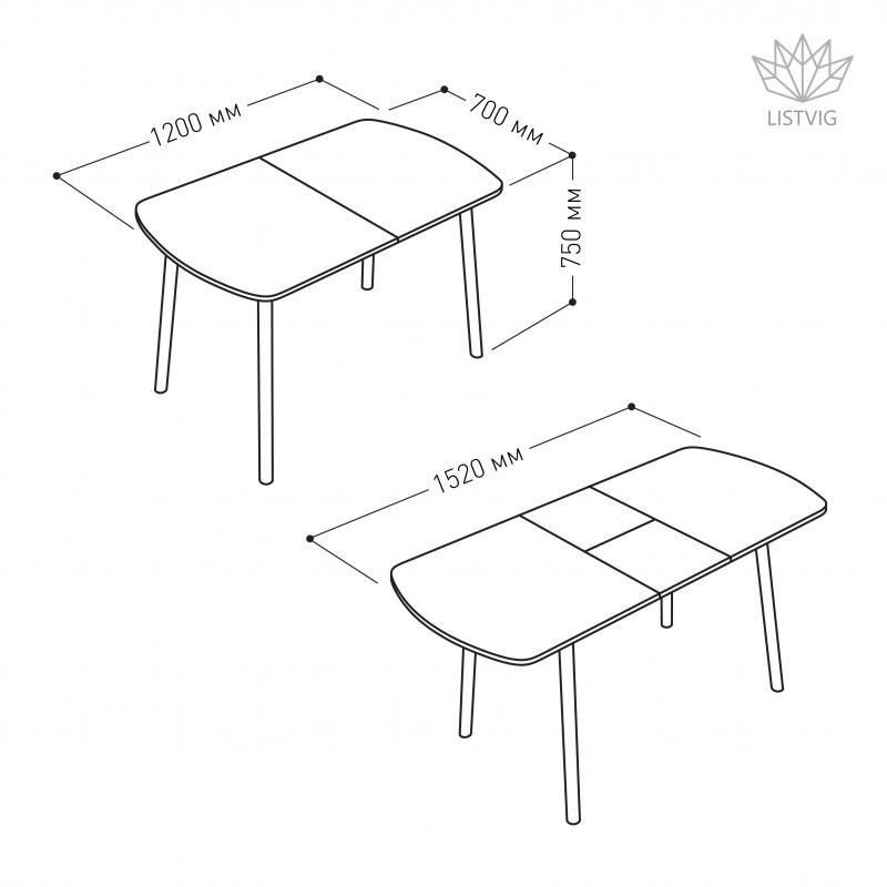 Стол обеденный раздвижной Винер G