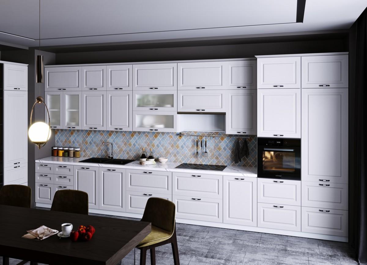 Кухня Капри (Липа Белая)