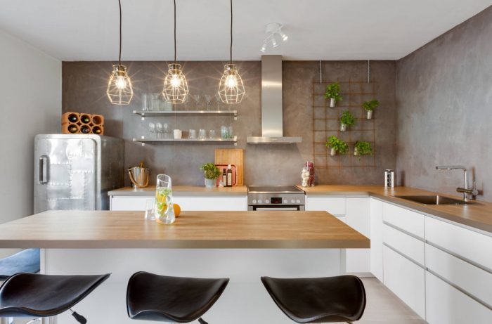 Кухня без верхних шкафов: современные идеи, реальные фото